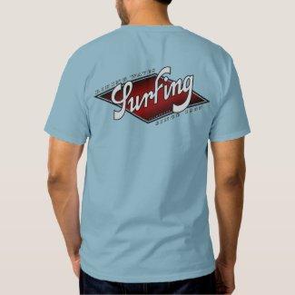 T-shirt basique bleu délavé pour homme