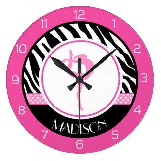 Horloge murale ronde, rose,