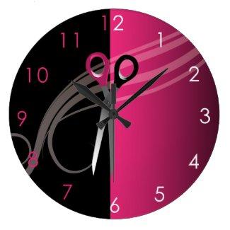 Horloge ronde murale pour salon de coiffure