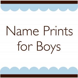 Name Prints for Boys