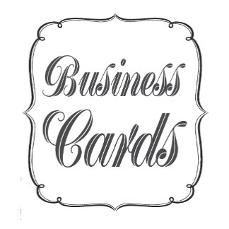 ► BUSINESS CARDS