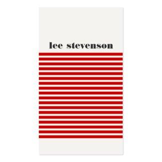 Cartes de visite modernes, couleurs blanc et rouge